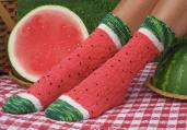 watermelon slice socks stocking